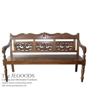 Kerawang Carving Java Bench