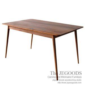 skandinavia lurus dining table model meja makan jati