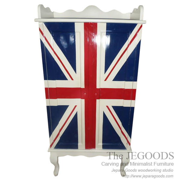 Jepara antique mahogany union jack flag mebel bendera inggris shabby chic furniture,union jack furniture jepara,