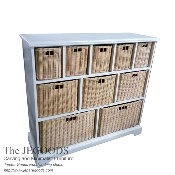 buffet white painted rustic furniture jepara,white painted furniture jepara,buffet rustic painted jepara,furniture painted antique jepara,buffet rattan basket,jepara white painted furniture,antique reproduction painted jepara goods,buffet shabby chic keranjang rotan,model buffet keranjang rotan