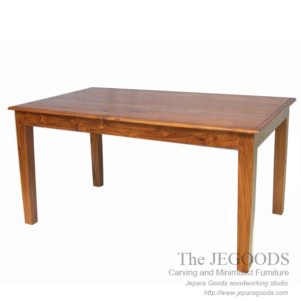 meja makan kayu jati, teak dining table furniture indonesia, teak dining table manufacturer, model meja makan kotak panjang jati jepara,teak indoor furniture manufacturer jepara factory price,produsen meja makan kayu jati jepara goods
