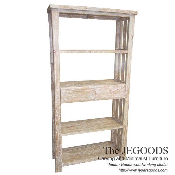 rak buku rustic white wash,jual rak buku konsep rustic,jual mebel konsep rustic jati,model furniture pop,jual furniture rustic jepara,model furniture unik pop art jepara,produsen furniture rustic jepara,mebel rastik,mebel cafe rustic