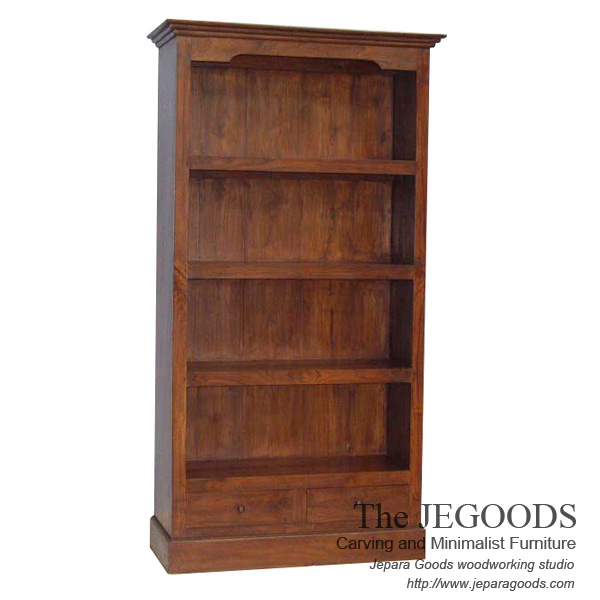 Colonial Teak Bookshelf Classic Modern Contemporary Furniture Jepara