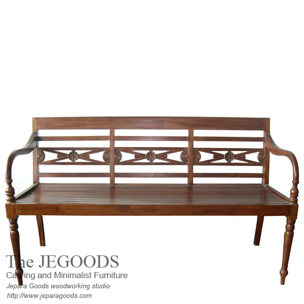 teak carving bench,raffles carving bench jepara,teak bench jepara indonesia, teak bench central java indonesia,raffles teak carving bench jepara