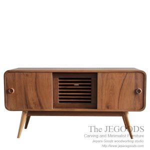 Buffet Radio Style – Vintage Retro Sideboard Teak Furniture Jepara