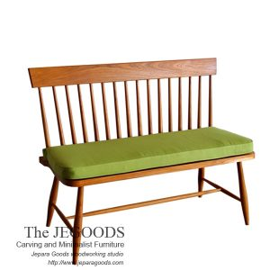 187 Windsor Spindle Line Bench 2 Seat Teak Vintage Retro